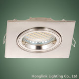 Twist Lock Anillo GU10 halógena ajustable Foco LED Downlight ahuecado Square