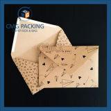 Enveloppe en papier Kraft pour impression noire (CMG-ENV-015)