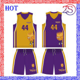 2015 uniformes reversibles de encargo del baloncesto de la ropa de deportes caliente de la venta