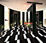 中国フォーシャンの工場からの高い光沢のある極度の黒い磨かれたタイル