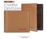Carteira Handmade dos homens do couro genuíno da bolsa da moeda da forma