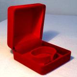 Caja de joyería cuadrada roja/rojo oscuro