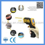 디지털 LCD 몸의 접촉이 없는 전자총 모양 산업 고온계 적외선 Laser IR 적외선 온도계