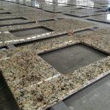 Оптовая верхняя часть тщеты ванной комнаты гранита золота Бразилия