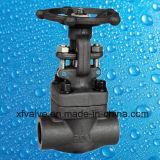 API602 schmiedete Stahlenden-Absperrschieber des Flansch-A105 oder des Gewindes