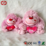 Cute Pink Kiss Me Soft Gorilla Plush Valentine Gift Toy