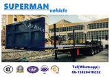 Flatbed Aanhangwagen van de tri van de As Vrachtwagen van de Lading met Staak voor Houten Carrier