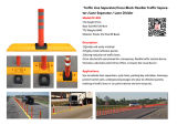 Línea flexible divisor del carril del separador (CC-K03) del tráfico del bloque cruzado