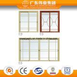 Réseau en verre en aluminium pour la porte et le guichet en aluminium toutes sortes de type procurables