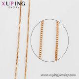 Collar plateado oro simple del encadenamiento de la joyería 42626 18K sin piedra
