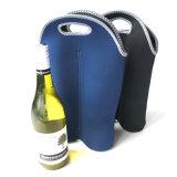 Sacos de Tote do refrigerador de vinho do neopreno de 2 blocos para o curso pínico com punho carreg