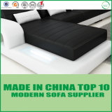 Bâti de sofa de cuir véritable de maison de type de divan