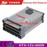 bloc d'alimentation antipluie de l'interpréteur de commandes interactif en aluminium continuel DEL de la tension 12V-400W