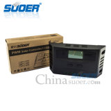 Contrôleur solaire solaire manuel du contrôleur PWM de charge de Suoer 12V 24V 20A