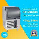 90kg/24h borran la máquina de hielo del cubo de hielo con acero inoxidable
