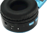 Auriculares de Bluetooth sobre el oído, receptor de cabeza sin hilos estéreo de alta fidelidad