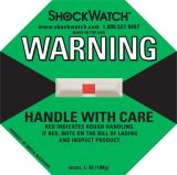 100g étiquettes d'expédition d'avertissement fragiles de détecteurs de vibration de l'attention au choc 1