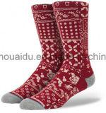 Ungerade strickende Mann-Form-Art-frei Kollokation-Socke