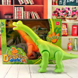 Brinquedo elétrico de fala do Brontosaurus dos desenhos animados do mundo do dinossauro