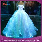 Платье венчания оптического волокна освещения цвета СИД RGB
