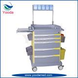 Productos médicos del hospital del ABS que cuidan la carretilla Emergency de la anestesia