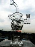 매트릭스 Perc 석유 굴착 장치 비커 Recycler 연기가 나는 유리제 수관