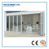 Intérieur extérieur de double vitrage de Roomeye Bi-Pliant la porte coulissante de 8 panneaux