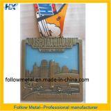 Kundenspezifische Sport-Medaille für Krankenhaus-Hügel-Lack-Läufer, halbes Marathon, transparenter Farbanstrich