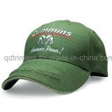 スクリーン印刷の刺繍の綿のあや織りのスポーツの野球帽(TMB0820)