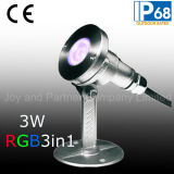 3W RGB3in1 LED Unterwasser Pool Licht mit Systemsockel (JP95316)