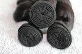 100%年のバージンの毛はもつれ静かに波のブラジルの人間の毛髪を緩めない