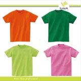 カスタム高品質の綿スクリーンの印刷の円形の首のTシャツ(R-09)