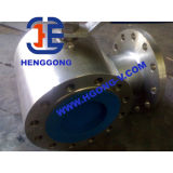 Valvola a sfera pneumatica a tre vie dell'acciaio inossidabile dell'azionatore di API/DIN