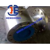 API/DIN de pneumatische Kogelklep Met drie richtingen van het Roestvrij staal