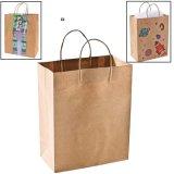 Fördernde Beutel, die Beutel-Einkaufstasche, Packpapier-Geschenk-Beutel Brown-, Einkaufstasche mit Druck-Firmenzeichen oder Entwurf verpacken