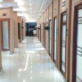 deur van de Gordijnstof van het Aluminium van de Kleur van 1.0mm~2.0mm de Witte Binnenlandse met Bloemen