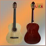 Guitarra de la obra clásica de la madera contrachapada del tilo