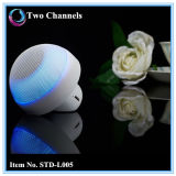 Altavoz portable sin hilos de Bluetooth de la seta mini con la luz del LED (STD-L005)