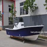 Barco de pesca da fibra de vidro do barco do Panga da embarcação de pesca de Liya 19ft