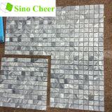 Modelo de mármol gris italiano cuadrado del azulejo de mosaico de Cararra