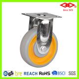 rodízio do aço inoxidável da roda do rolamento de esferas TPR de 125mm (P114-34E125X30)