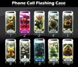 Materielles rückseitiger Deckel-Telefon der Qualitäts-TPU, das LED grellen hellen Kasten für iPhone 5 mobilen Deckel Samsung-S6 S7 nennt