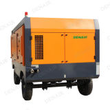 Compressor portátil Diesel de alta pressão silencioso da C.A. para as rodas