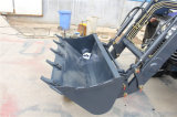Boas vendas 4WD 50HP China Traktor com carregador da parte frontal e carregador do Backhoe