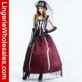Costume costumé de Veille de la toussaint Cosplay de vampire de mariée gothique adulte d'ordinateur de secours pour des femmes