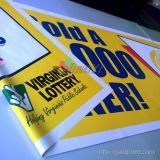 Напольное водоустойчивое двойное, котор встали на сторону печатание рекламируя знамя винила PVC индикации