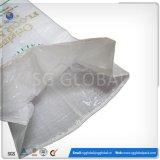Sacs tissés par pp stratifiés blancs de blé de farine de la Chine
