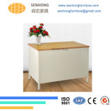 Escritorio de acero superficial de madera Lh-107 para los muebles de oficinas