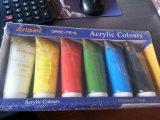 75ml*6 de Verf van de kleur voor Kunstenaar wordt geplaatst die