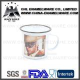 Segurança alimentar caneca decorativa de esmalte de porcelana com decalque de logotipo
